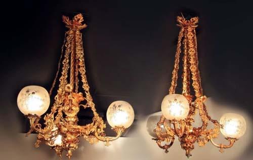 Hooper, Pr Rococo Gas Chandeliers