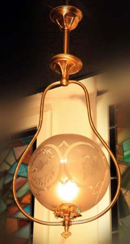 Masonic Gas Chandelier