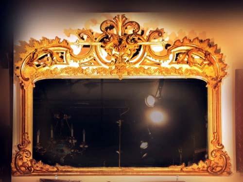 Rococo Gilded Mantle Mirror