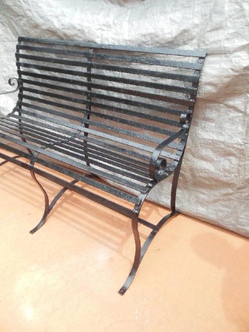 Vintage Strapwork Bench