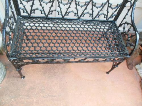 Bench, Gothic Cast Iron 19th Century. SOLD