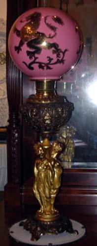 Victorian 3 Grace Banquet Lamp