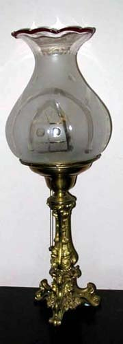 Astral Lamp with Figural Base