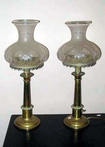 Sinumbra Lamps, Rare Pr of Minature