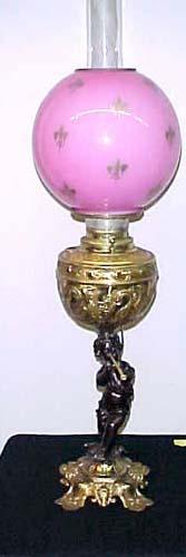 Victorian Cherub Banquet Lamp - 282