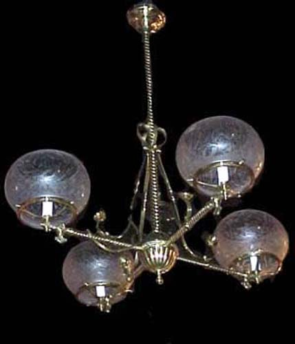 Arm Victorian Gas Chandelier in the Aesthetic tast