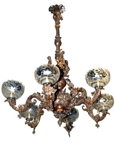 Rococco 6 Arm Gas Chandelier - 280