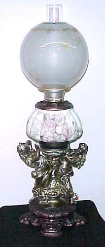 Victorian Crown Milano Figural Banquet Lamp - 284