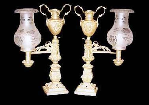 Bronze Argand Lamps - 33