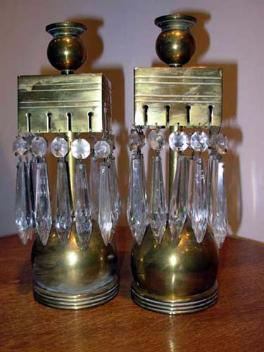 Pr Aesthetic Brass Candlesticks SOLD
