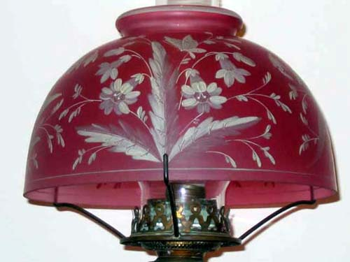 Victorian Cranberry Lamp SOLD