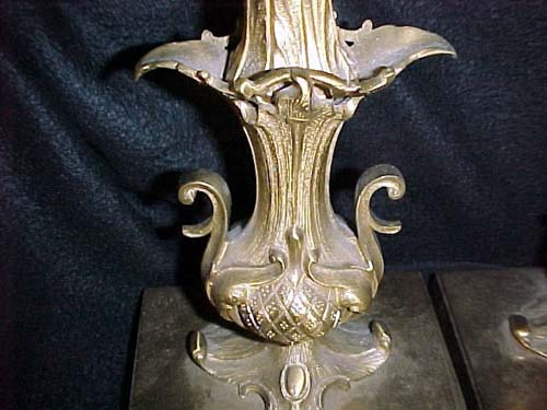 Pr of Brass Candlesticks attrib to Hooper Boston -