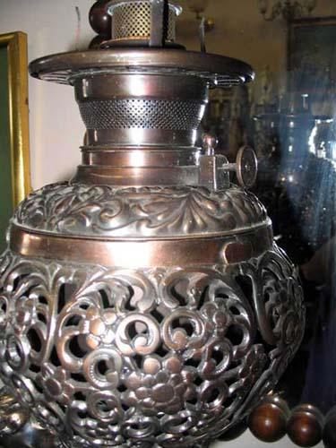 Victorian Kerosene Cherub Lamp