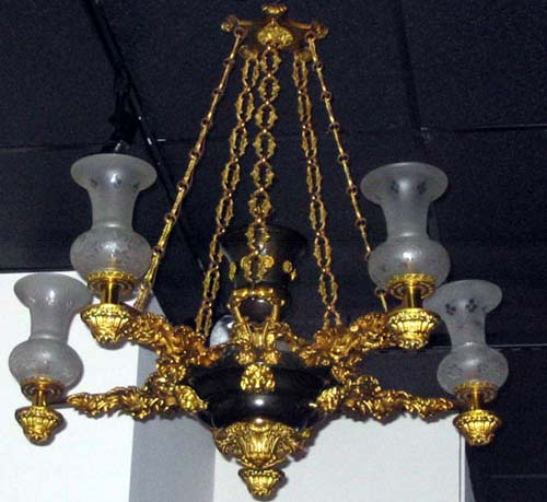 19thC Argand Chandelier- SOLD