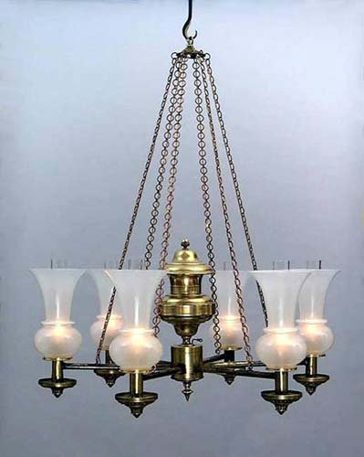 Antique American Argand Chandelier