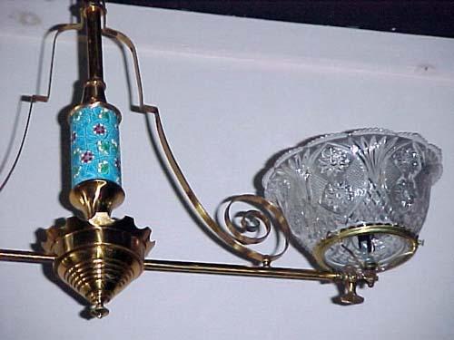 Victorian Longwy 2 Arm Gas Chandelier - 269