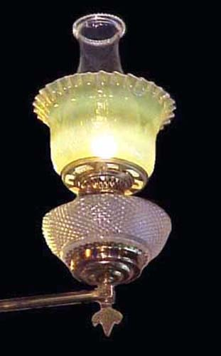 Jeweled Victorian Kerosene Chandelier - 133
