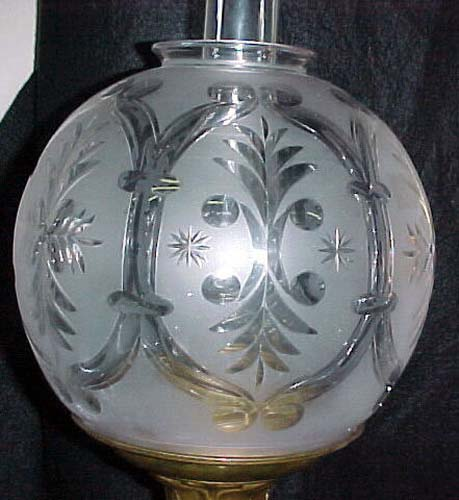 Antique Solar or Astral Lamp,attributed to Hooper