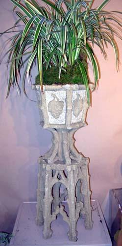 Faux Bois  Cast Stone Urn SOLD