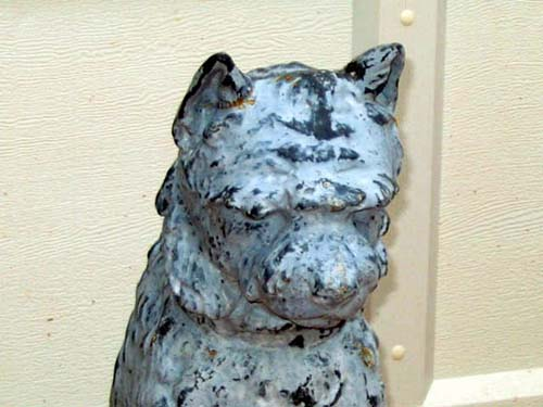 Garden Dog, Cast Iron & Zinc. Mott or Fiske