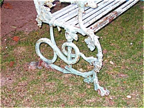Bench, Antique Cast Iron Coalbrookdale, HOLD