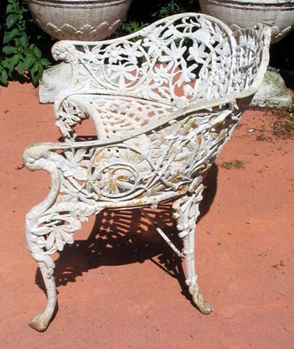 Victorian Cast Iron Passion Flower Bench: SOLD