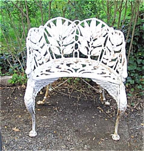 Victorian Cast Iron Carved Bench SOLD