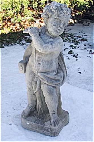 Beau Cast Stone Cherub: SOLD