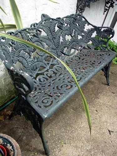 Victorian Cast Iron Fern Bench: SOLD