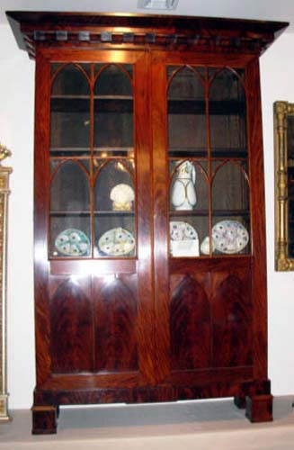 Bookcase; Am. Classical Gothic taste: