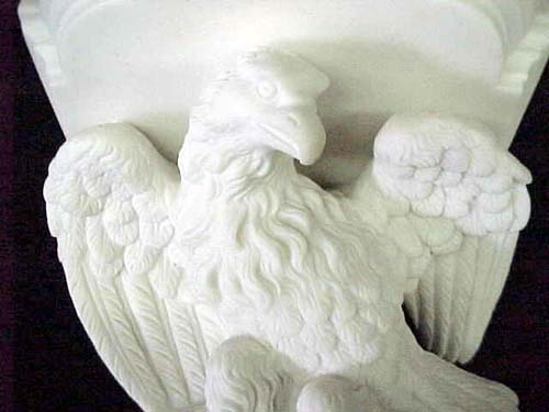 19thC Parian Eagle Bracket: SOLD