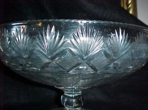 Am Cut Glass Compote, Pittsburgh 1820: