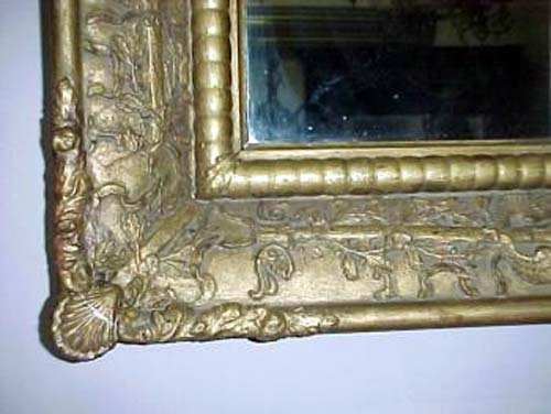 Classical Gold Leaf Overmantel Mirror SOLD: