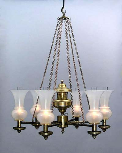 Antique Argand Chandelier SOLD
