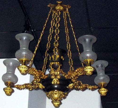 19th C Argand Chandelier :   SOLD