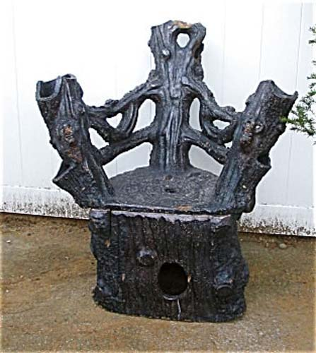 Garden Antiques Sewertile Chair: SOLD