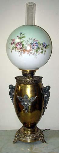 Victorian Banquet Lamp brass base