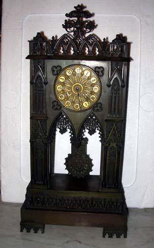 Clock;Charles X Bronze Gothic  Ravrio Paris