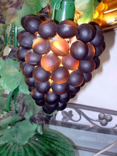 Antique Italian Glass Grape Lamp-SOLD