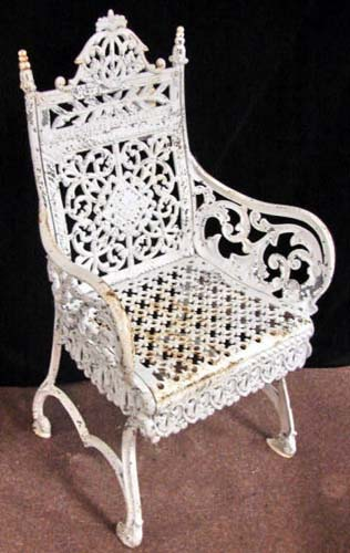 Cast Iron Timmes Garden Chair-SOLD