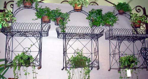 Wire Planters, set of 3   sold