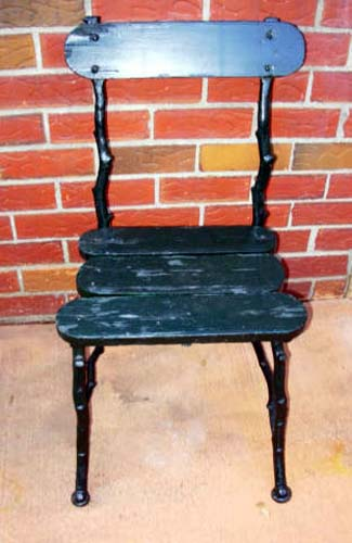 Cast Iron Twig Chairs, pair- SOLD