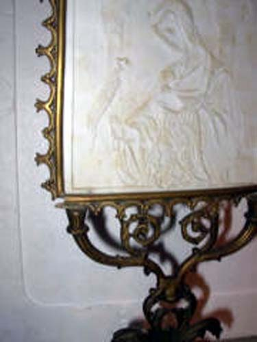 Gothic Revival Lithopane Candle Screen