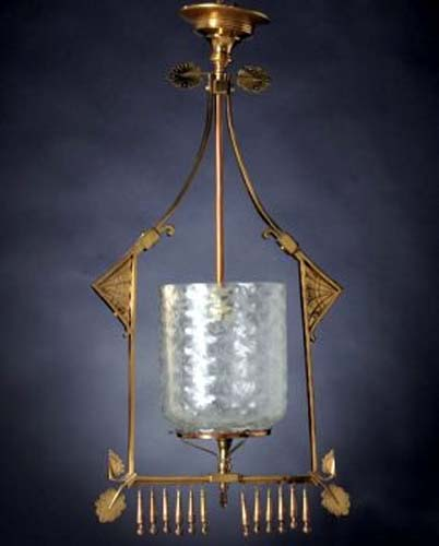 Aesthetic Brass Hall Light. SOLD