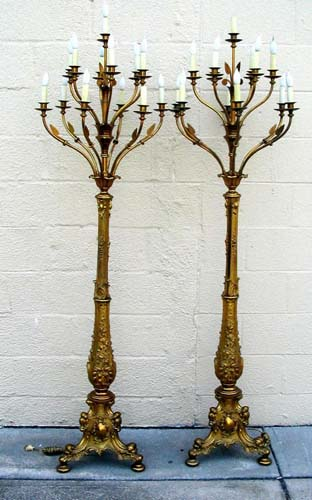 Cornelius & Co Rococco Revival Pr Floor Lamps-SOLD