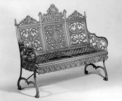 Timmes Cast Iron Garden Bench SOLD