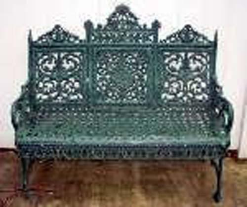 Timmes Cast Iron Garden Bench SOLD