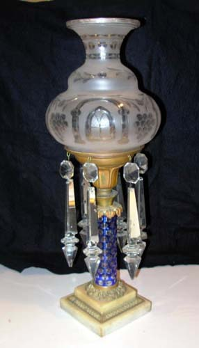Astral or Solar Lamp w Glass Column
