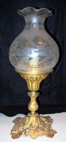 Astral Lamp with Rococco Base