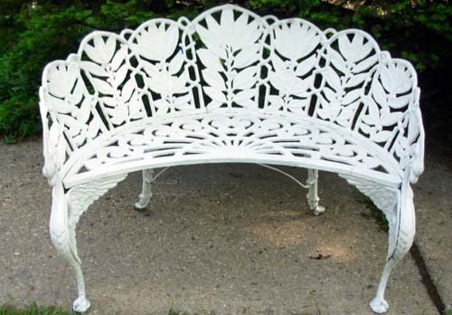 Garden Bench, Laurel Pattern -SOLD